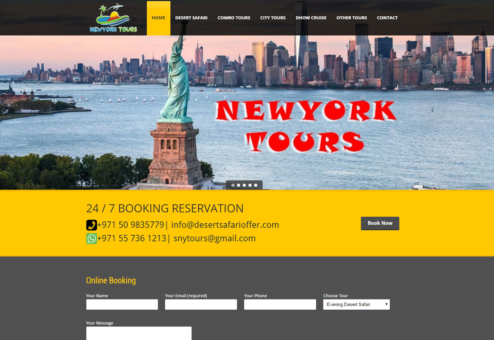 NewYork Tours | Desert Safari Offer